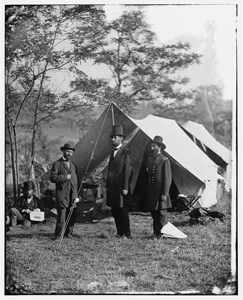 Lincoln at Antietam (courtesy Library of Congress)