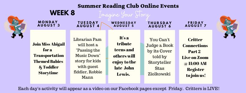Week 8 Schedule for SRC