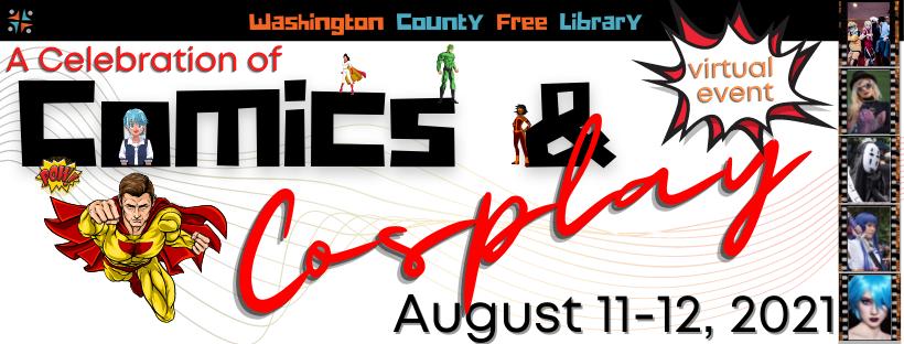Washington County Free Library Comics and Cosplay logo