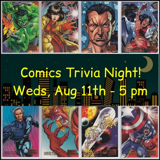 Background images of classic comics - Hulk, Wonder Woman, Flash