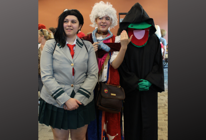 Cosplay trio of characters