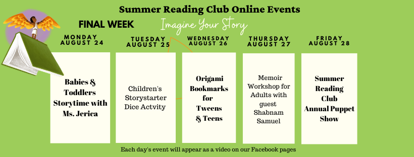 Summer Reading Club Final week