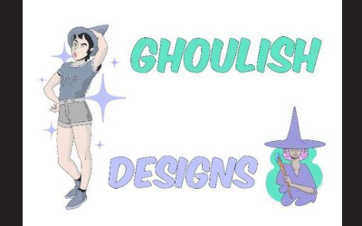 Ghoulish Designs animee characters wizard and witch