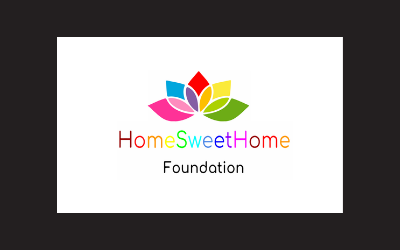 Home Sweet Home Foundation logo with multicolored flower