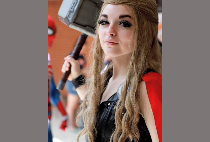 Cosplay character dressed as Lady Thor