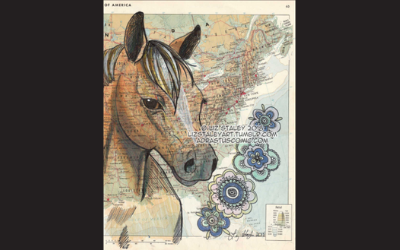 Liz Staley Studios drawing of horse