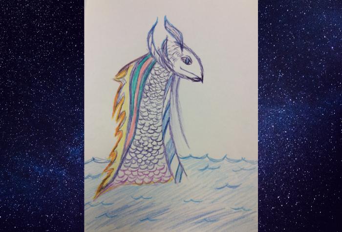Hand drawn image - Merdragon by Maria M