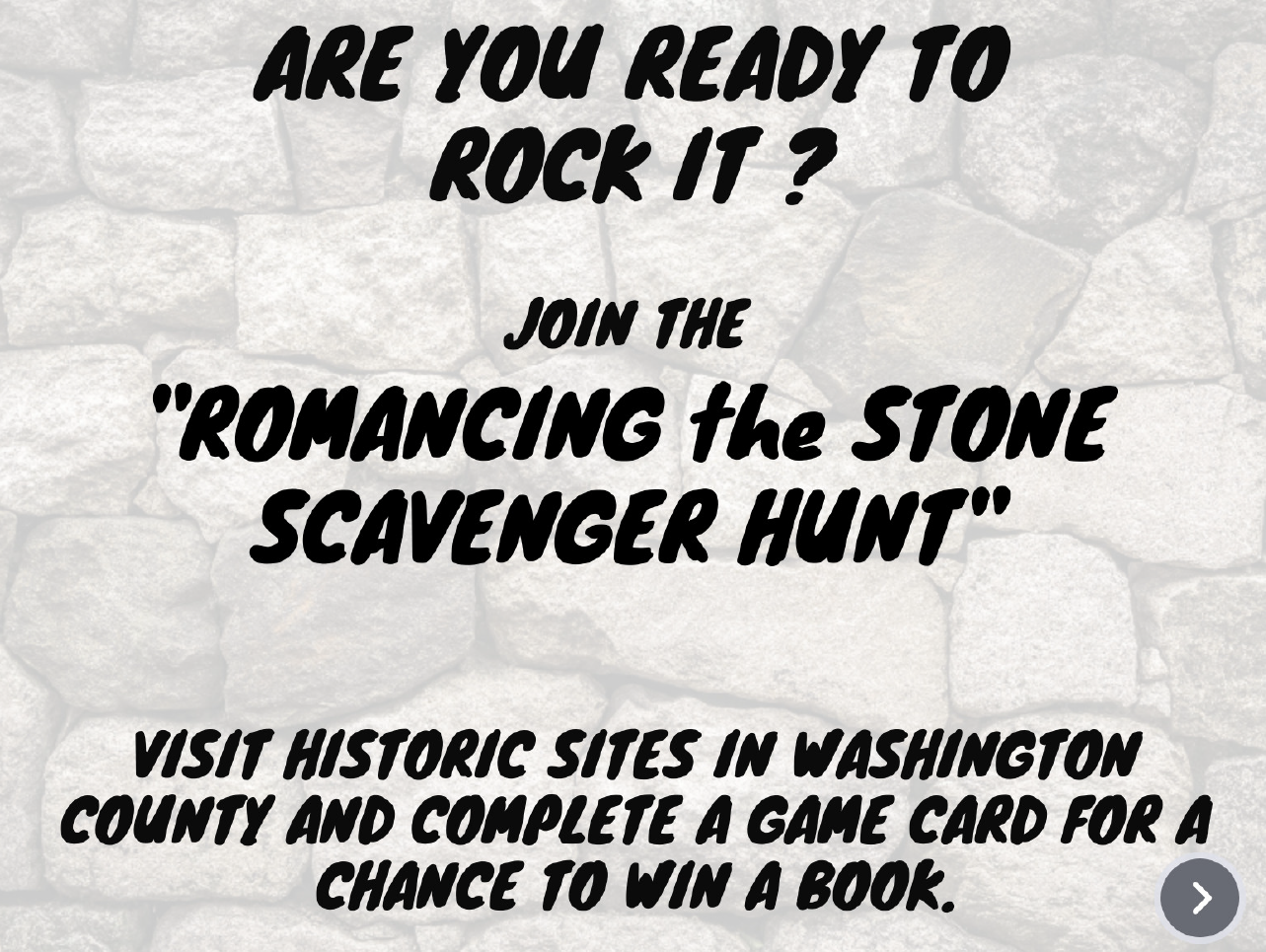 Romancing the Stone Scavenger Hunt