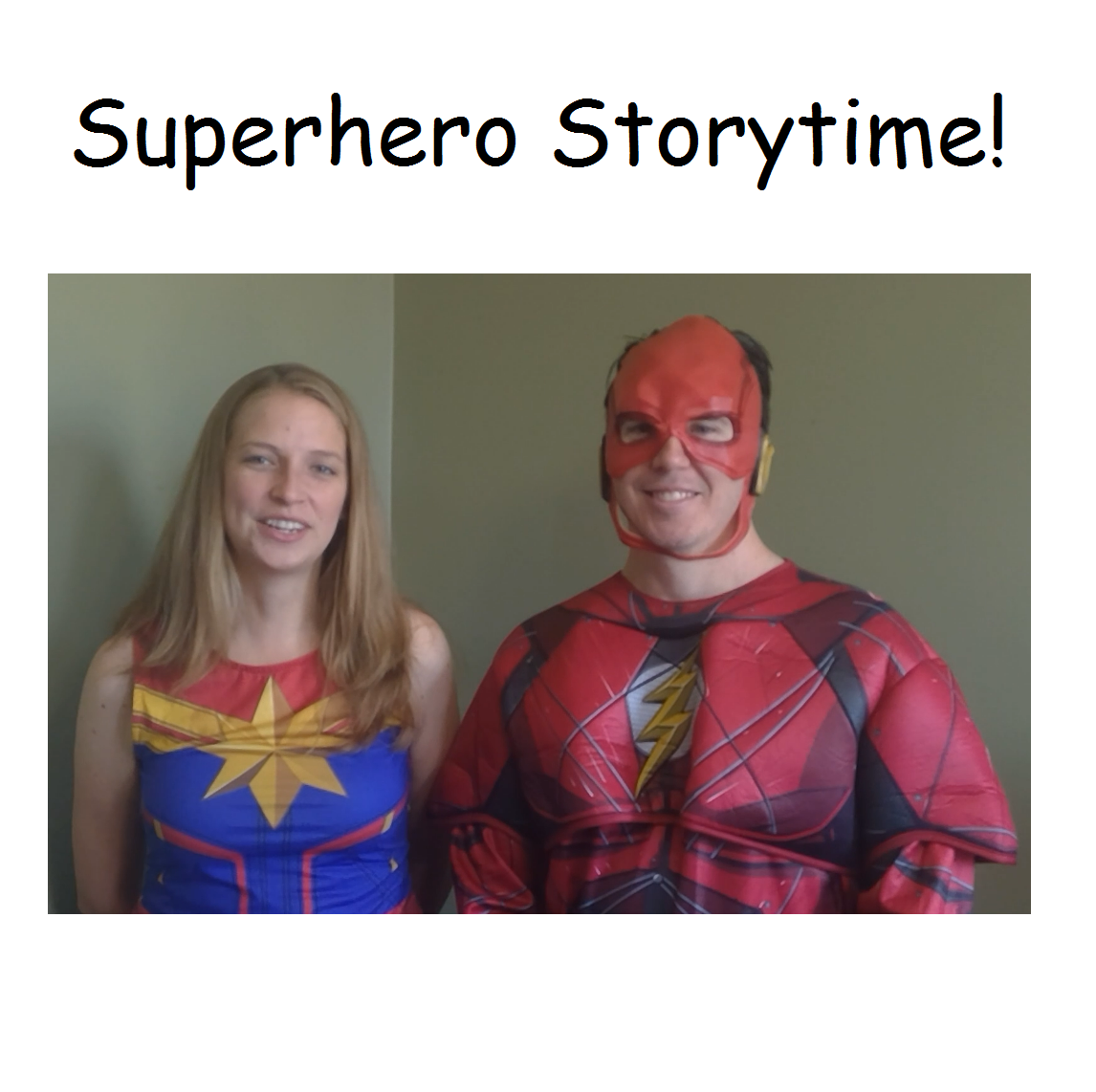 Woman and Man dressed as super heros