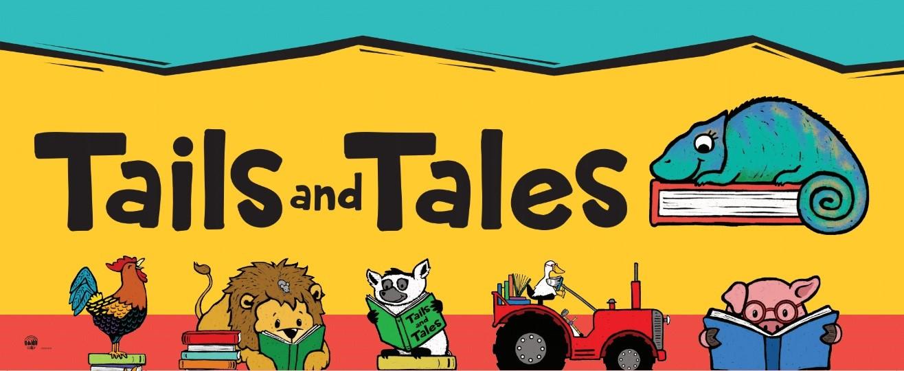 Cartoon of animals reading books