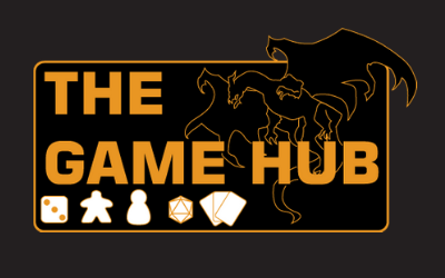 The Game Hub logo with dragons and game pieces