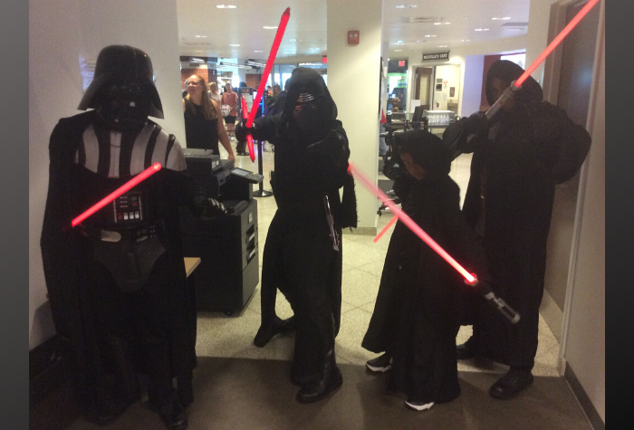 Cosplay characters dressed as Star Wars characters