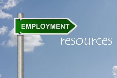 Directional sign - Employment Resources
