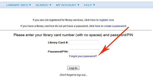 Polaris - Forgot my password screen capture
