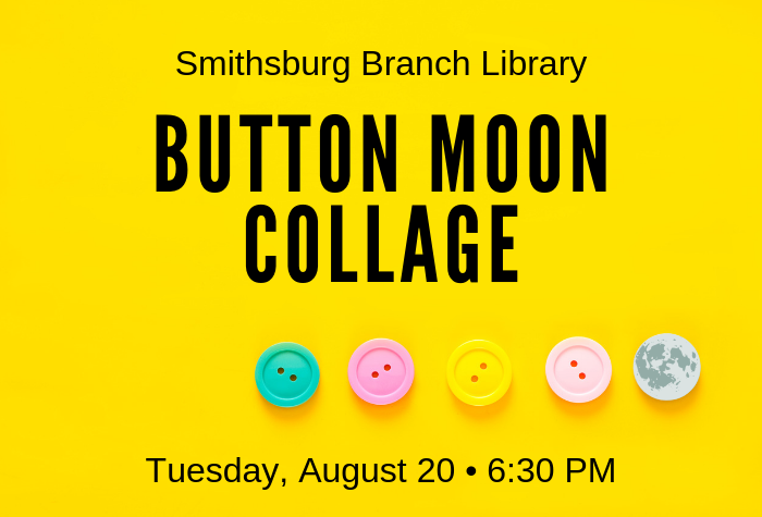 Yellow background with row of buttons, but the last button is a tiny moon