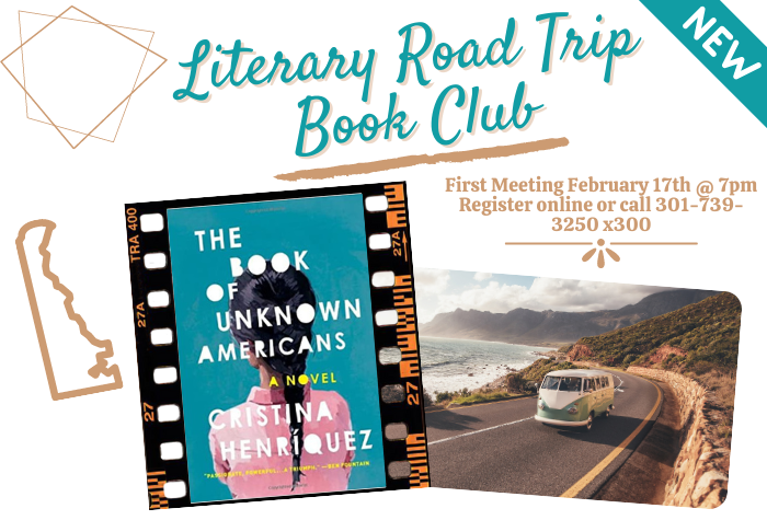 """Literary Road Trip Book Club """"The Book of Unknown Americans"""" by Cristina Henriquez"""