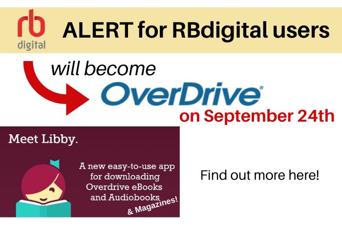 Alert message for RBdigital users