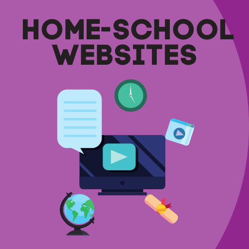 Home-school websites graphic - world with various electronic devices