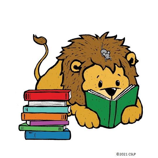Cartoon of Lion reading a book