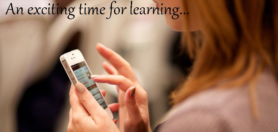 An Exciting Time for Learning - Girl texting