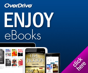 Overdrive graphic with books