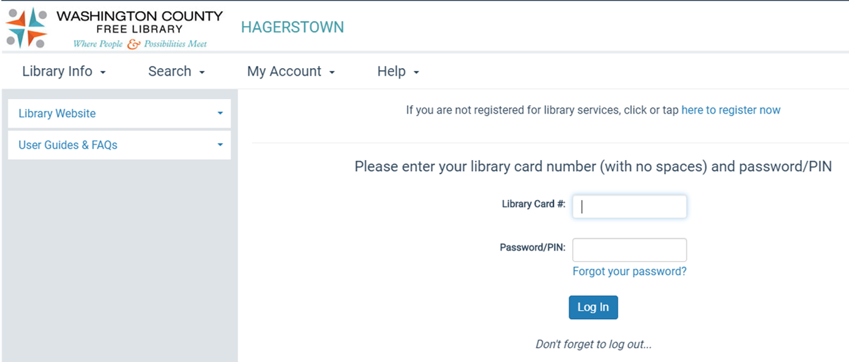 Step 1 - screen capture to register for account