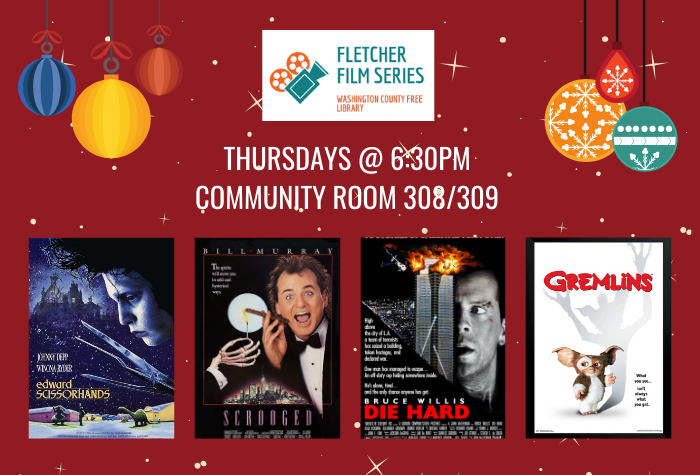 December Film Series with movie covers