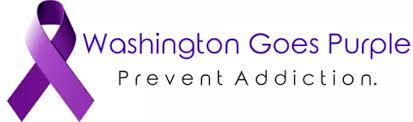 Washington Goes Purple ribbon - Prevent Addiction