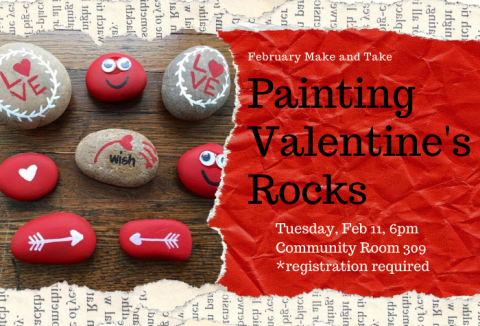 Rocks painted for Valentines