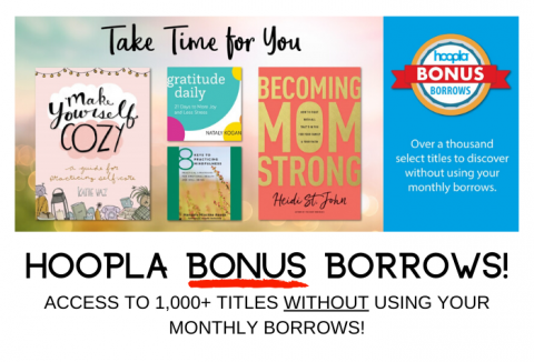 hoopla Bonus titles with book covers